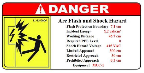 arc-flash equipment label