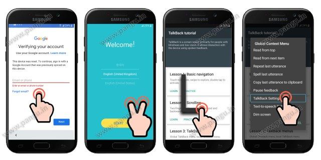 samsung j5 prime turn on talkback option, samsung j5 frp unlock without pc