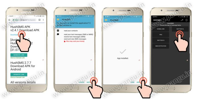 03 install hushsms in frp locked mobile