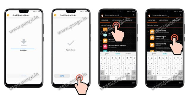 Install quick shortcut maker Huawei Honor 8X JSN-L22