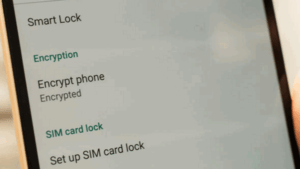 Your phone is encrypted for security