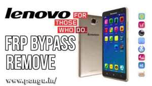Lenovo Bypass Google Account Verification FRP lock