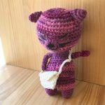 No.1-4 猫(赤紫) …¥600