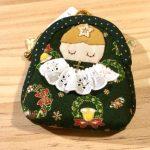 No.121 おチビちゃん天使のポーチ(緑) … ¥850 (綿)(9cm x 8.5cm マチ2cm)