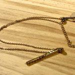 No.54 真鍮ネックレス(バー) … ¥4,500 (真鍮・銀ロウ)