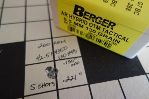 Berger Bullets 6.5 MM 130 Grain AR Hybrid OTM Tactical Load in 260 Remington