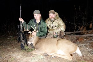 Jessica and Sam Millard with Jessica's 2015 Idaho Whitetai