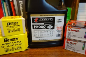 H1000, Berger, and Hornady Bullets