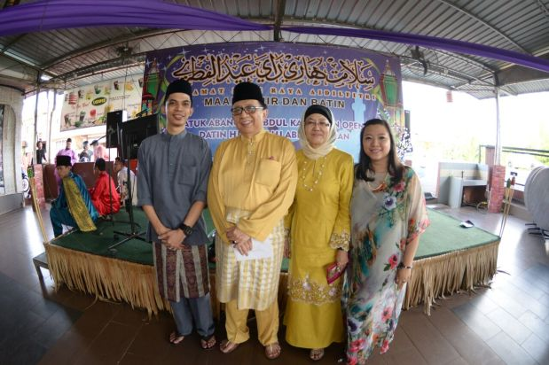 Father & Mother during our Raya open house