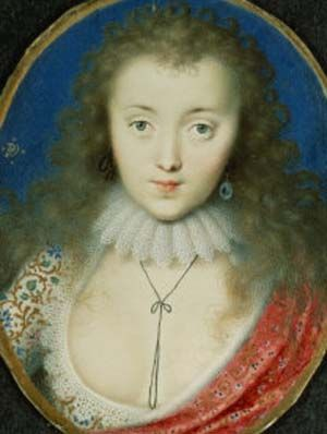 The plunging neckline of Stuart beauty, Venetia Digby - Peter Oliver, c.1620.