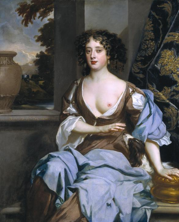 Portrait of an Unknown Woman - Peter Lely, c.1670-1675. Sometimes a civilisation comes along where full-sized nip-slips are positively encouraged...