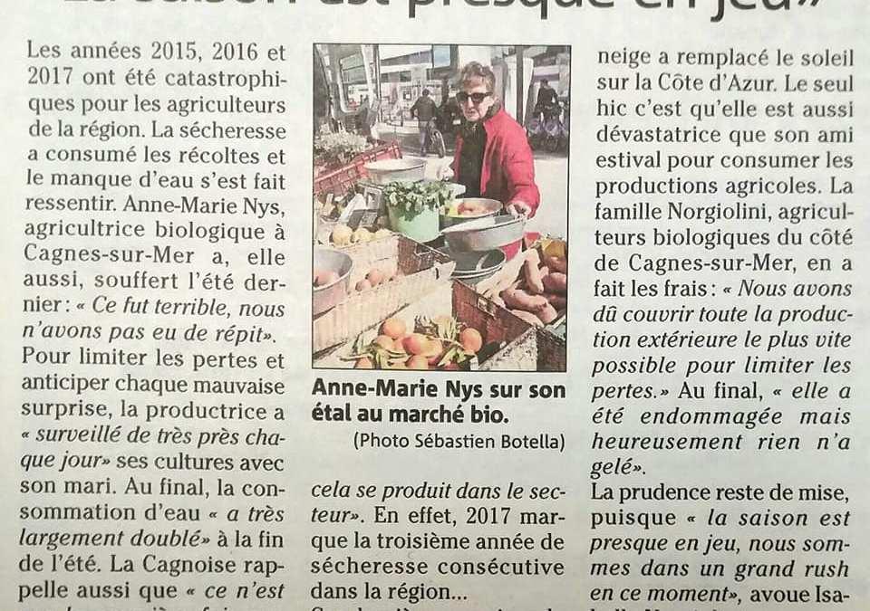 #NiceMatin : l'agriculture bio prend racine sur le territoire