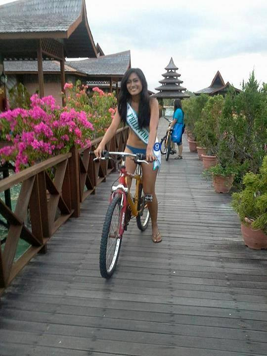 Biking around was fun