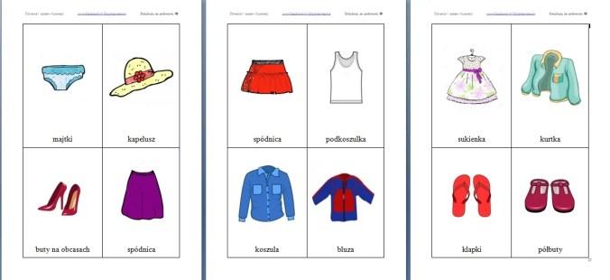 ubrania rysunki wzór