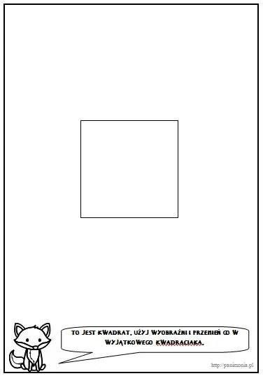 edukacja matematyczna w przedszkolu kwadrat