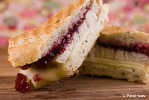 Post image for Turkey, Cranberry & Havarti Panini (My 50th!)
