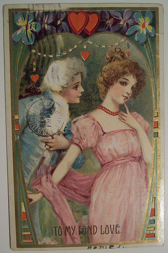 Винтажная валентинка