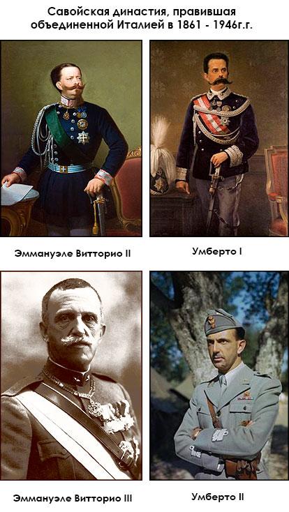 Короли объединенной Италии.Савойская династия