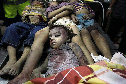 anak-anak gaza korban pembantaian zionis