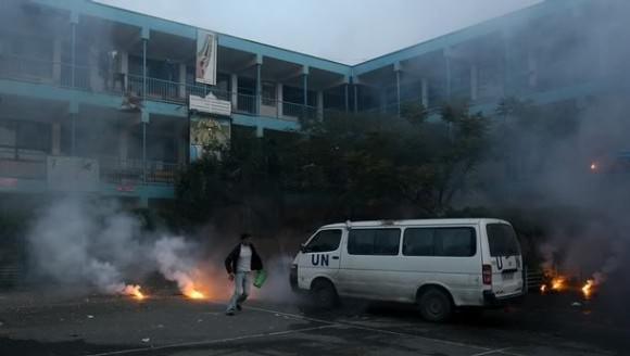sekolah PBB di Gaza dibom Zionis Israel