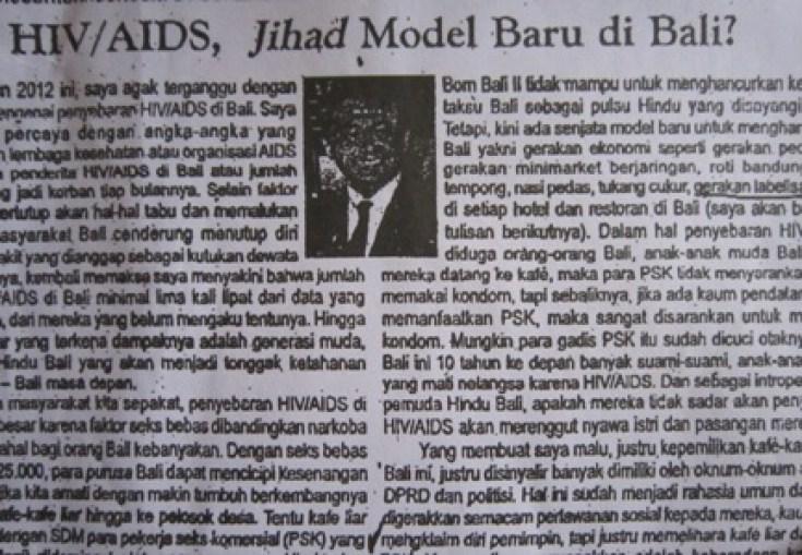 arya wedakarna lecehkan jihad