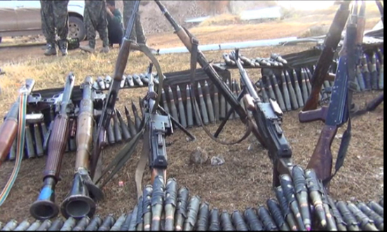 senjata yang dirampas dari daulah islamiyah