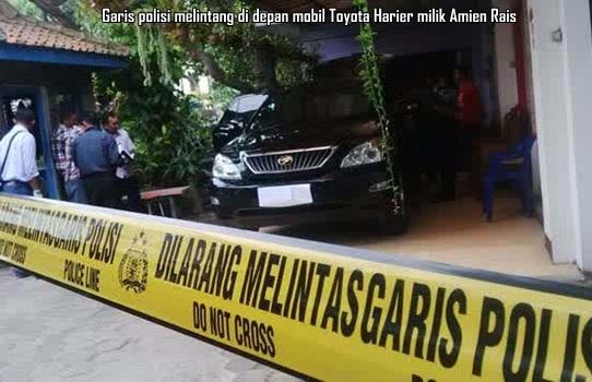 Mobil Amien Rais di Jogja yang ditembak OTK