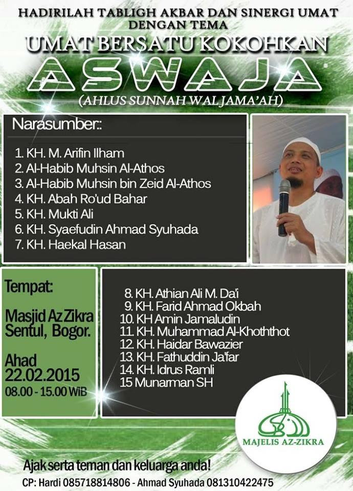 Pamflet Umat Bersatu LAwan Syi'ah di Az Zikra Bogor
