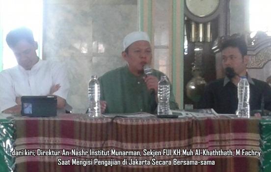 Fachry, Munarman FPI, Al-Khaththath FUI
