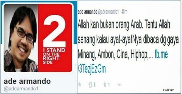 Ade Armando Sebut Allah Bukan Orang Arab