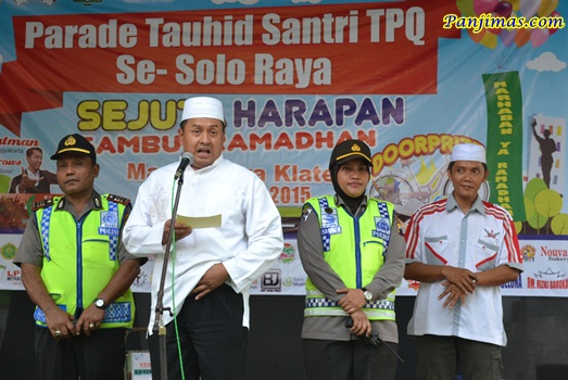 Kapolres Katen & Panitia Parade Tauhid Santri TPA-TPQ se-Kabupaten Klaten