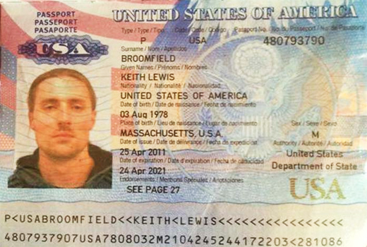 Keith Broomfield Passport