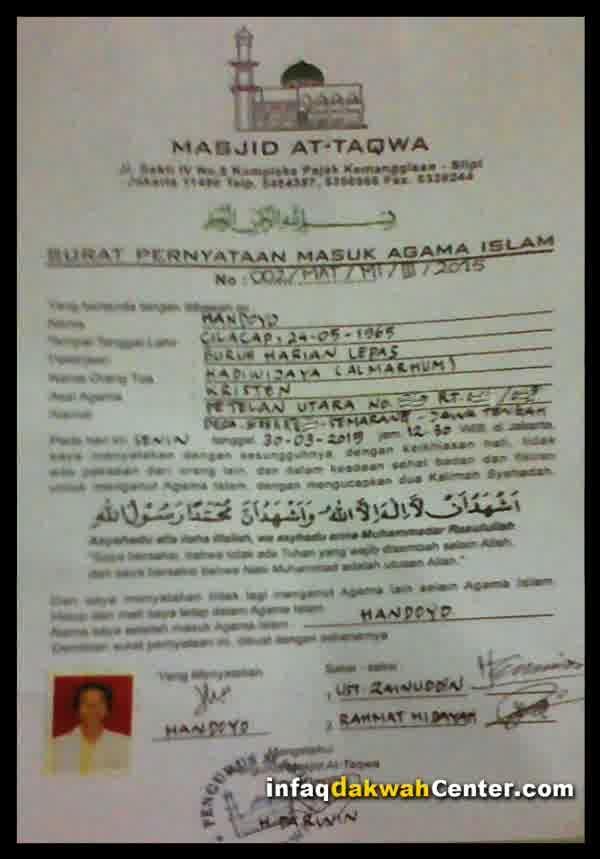 Pak Han Muallaf Surat Keterangan Syahadat - IDC