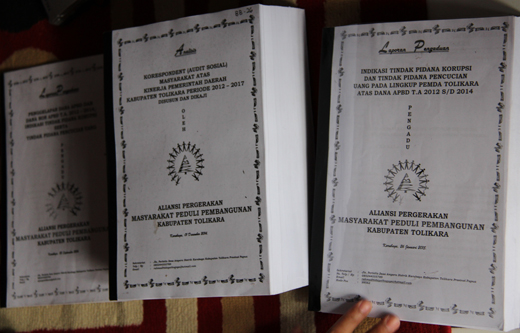 Bukti Dokumen Dugaan Korupsi Bupati Tolikara