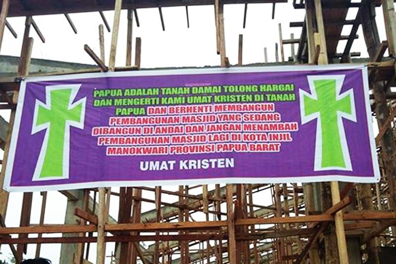 Kristen Papua Tolak Pembangunan Masjid 1