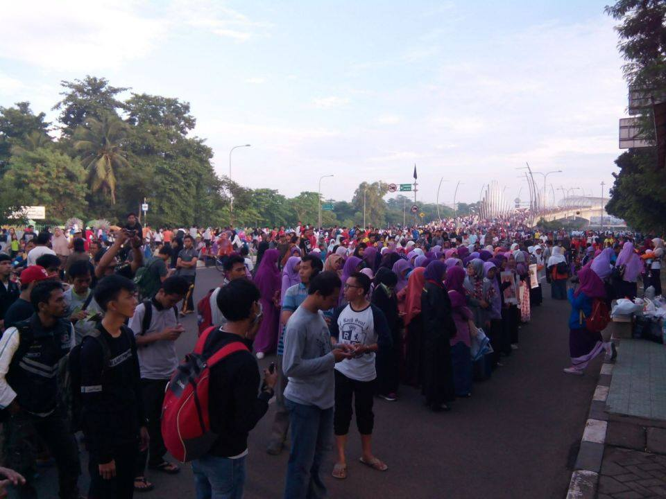 GEMA di Car free day Bekasi
