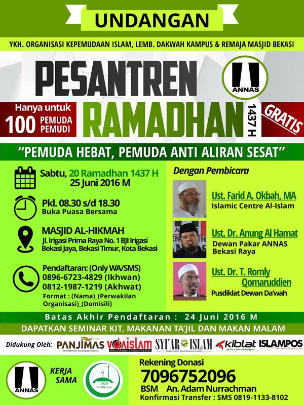 Pesantren Ramadhan Annas Bekasi