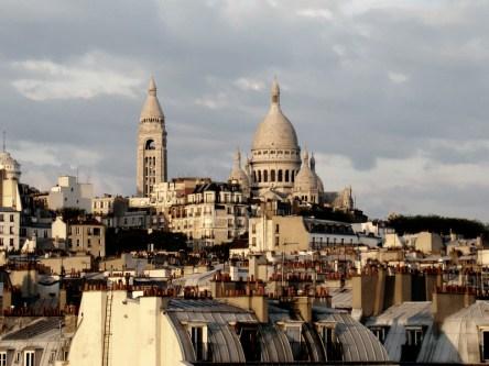 Panorama Montmartre i bazylika Sacré-Cœur