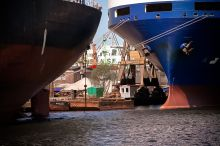 Statki cumujące na Kanale Kaszubskim