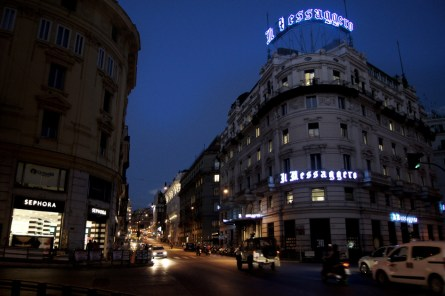 Rzym nocą- Via del Tritone