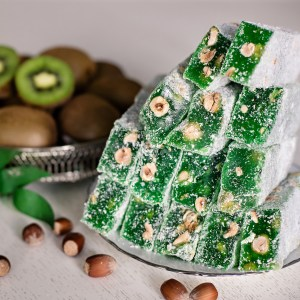 King Turkish Delight with Hazelnut and Kiwi Flavoured (200 gr.)