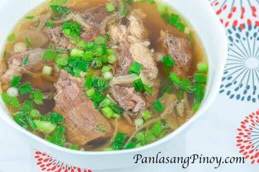 Slow Cooked Beef Lauya Soup Recipe - Panlasang Pinoy