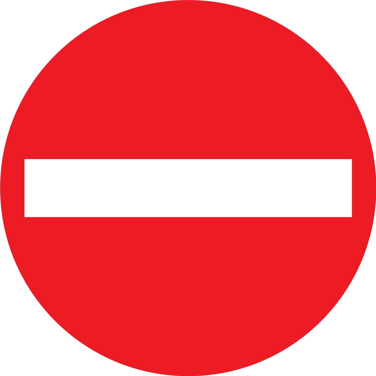 Panneau Signaletique Sens Interdit
