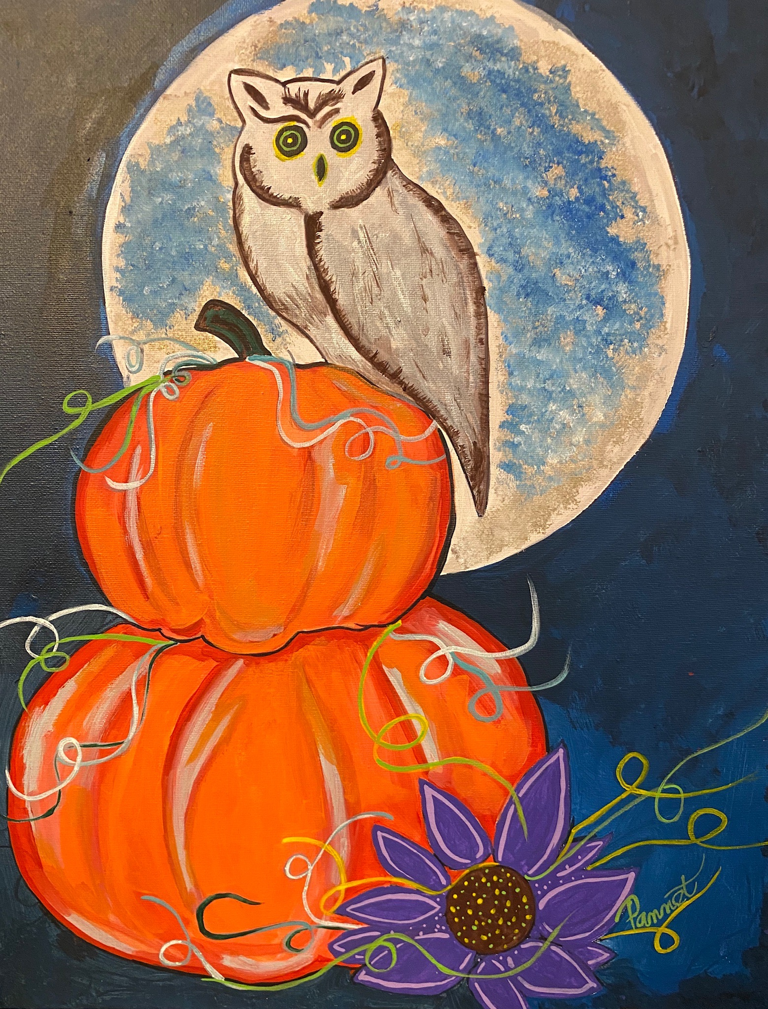 It's a Hoot Owl & Pumpkin Painting Party