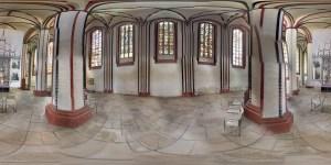 aufgerolltes Geo- Panorama von Frankfurt (Oder) Fenster der Marienkirche