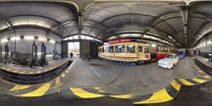 aufgerolltes Geo- Panorama von Frankfurt (Oder) Straßenbahndepot