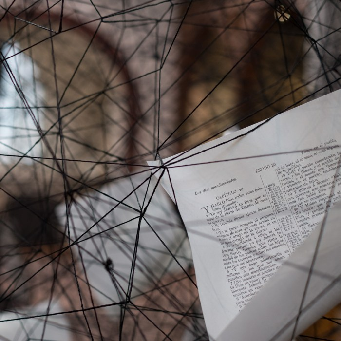Art installation | Lost Words by Chiharu Shiota