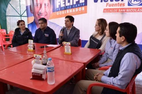 Se reunió con Víctor Fuentes, candidato a la alcaldía de San Nicolás