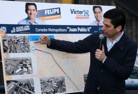 Estuvo acompañado del candidato a la alcaldía de San Nicolás