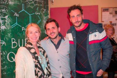 Gloria Carra, Joaquin Bonet y Luciano Caceres